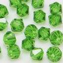 Crystal beads, Auralescent Crystal, Crystal, Green , Faceted Bicones, Diameter 6mm, 15 Beads, [ZZB046]